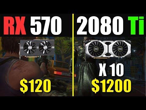 RX 570與RTX 2080 Ti 效能差異有多大?