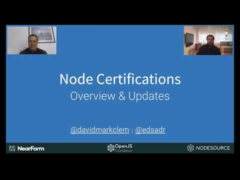 Node.js Professional Certification - Overview and Updates - David ...