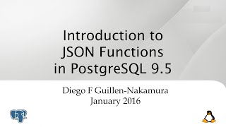 Introduction to JSON Functions in PostgreSQL 9.5