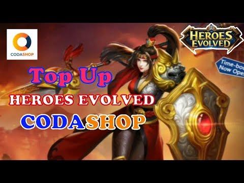 CARA TOPUP TOKEN HEROES EVOLVED VIA CODASHOP
