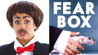Jet Packinski Touches a Hairless Rat, Rooster & Other Weird Stuff in the Fear Box | Vanity Fair
