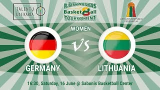 R. Šiškauskas Tournament: Germany vs Lithuania (Women)