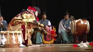 2016石見神楽松阪宣長まつりに迫力の舞