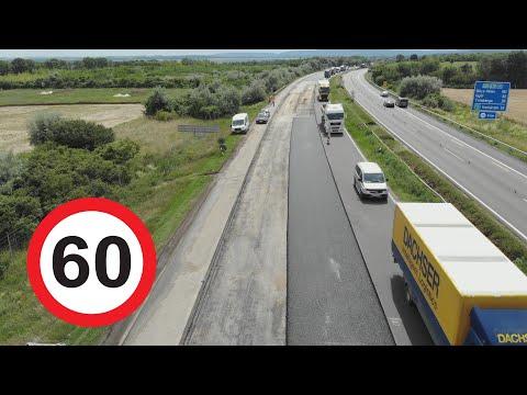 Te mennyivel mész 60-as táblánál? Az útépítés szépségei autópályán