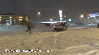 preview picture of video '2/1/2015 Jackson, MI Winter Storm Messy Snows'