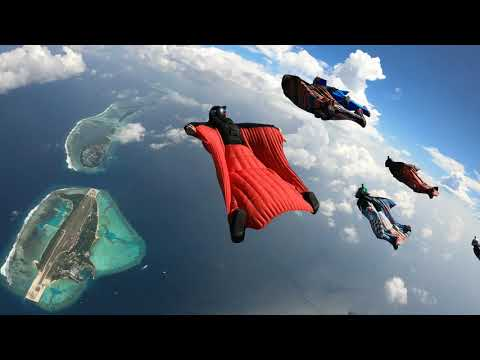 Incredible Wingsuit Flight Over the Maldives Islands