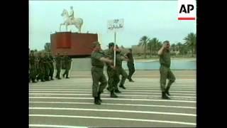 IRAQ: BAGHDAD: PARADE ACROSS CITY FOR SADDAM HUSSEIN'S BIRTHDAY