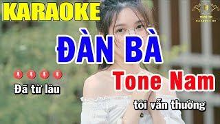 Karaoke Đàn Bà Tone Nam Nhạc Sống | Trọng Hiếu