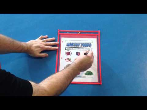 Phys.Ed.Review (Reusable Dry Erase Pockets)