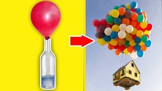 how-to-make-flying-balloon-at-home-with-powder-drain-cleaners-amazing-experiment