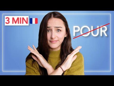 Francouzština ve třech minutách – Neříkejte POUR!