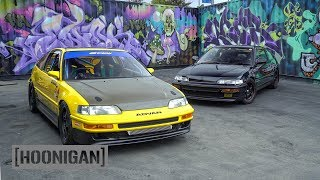 [HOONIGAN] DT 205: Mugen vs Spoon Honda CRX Battle #SPACERACE
