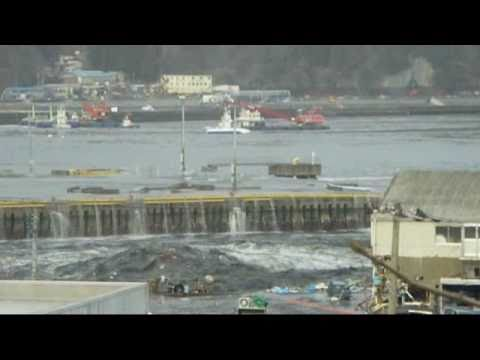 個人撮影 3月11日15時29分 津波 第1波 引き波