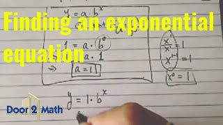 *Find Exponential Equation: Find A, B If Y=ab^x Passes Thru. (-3,1/27) And (0,1).