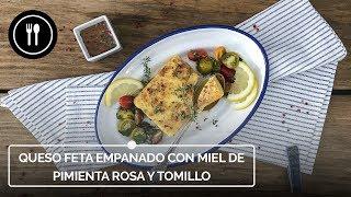 Cómo hacer QUESO FETA empanado con MIEL DE PIMIENTA ROSA y TOMILLO, un bocado perfecto para compartir