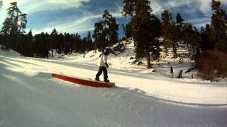 Daivd Branom's Jr. First Time Snowboarding At Bear Mountain,Ca.