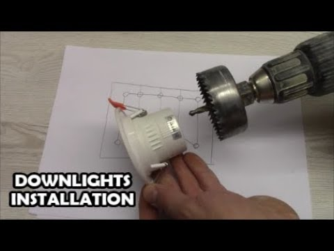 How to install downlights LED spotlight wiring How to wire LED down light