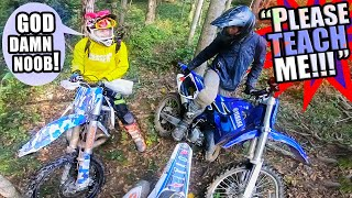 Dirt Bike School  - Teaching Little Brother How To Ride Enduro!