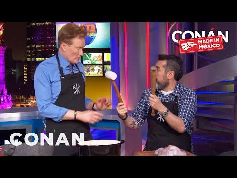 Conan Cooks With Chef Aquiles Chávez