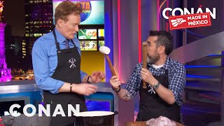 Conan Cooks With Chef Aquiles Chávez