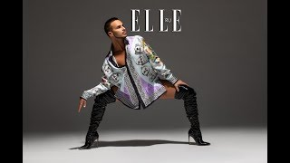 """YANIS MARSHALL INTERVIEW FOR """"ELLE MAGAZINE"""" RUSSIA."""