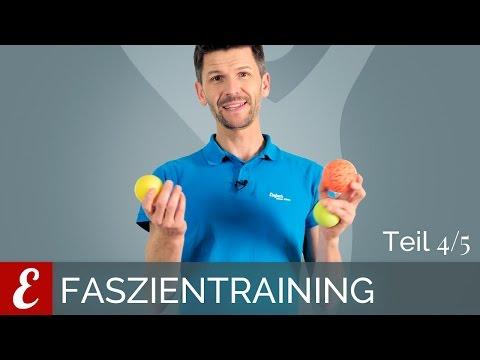 Faszientraining — Übungen mit dem Faszienball (Die besten Faszienübungen, Folge 4/5)