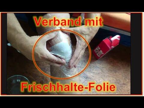 Verband Umschlag mit Ritterspitz und Frischhalte-Folie