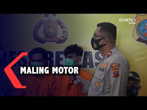 Wajah 2 Maling Motor di Medan