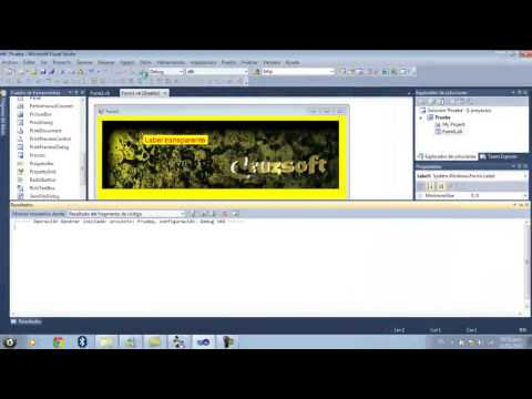 Cruzsoft Tutoriales - Label Transparente en Visual Basic.net