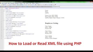 How to Load or Read XML file using PHP