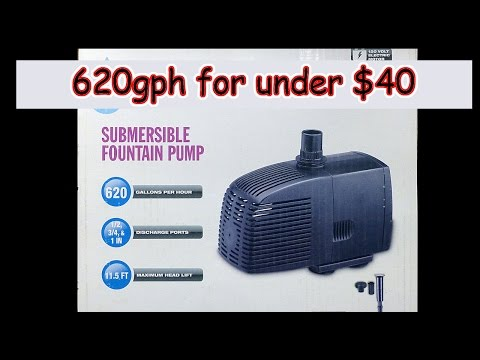 Pump review – 620 gph for UNDER $40 – Aquariums/ponds