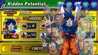 8.5MIL NO CRIT?! RAINBOW LR Spirit Bomb Goku Global Showcase | DBZ Dokkan Battle