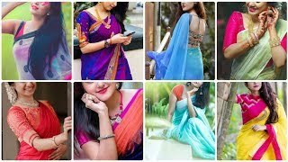 Best Saree Photo Poses Idea For Girls