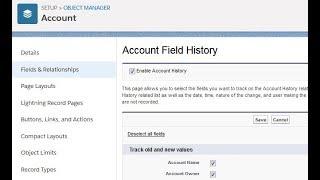 Salesforce Lightning: Field History Tracking