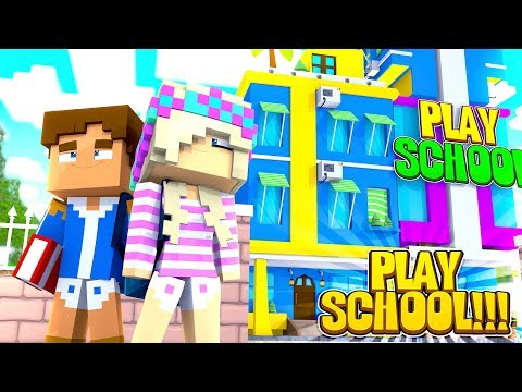 Minecraft PLAY SCHOOL || BABY LEAH'S FIRST DAY AT PLAY SCHOOL!!!