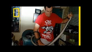 Watch: Man Removes 'World's Deadliest Snake' from Home | National Geographic