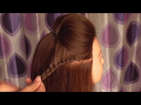 Easy Front Puff Hairstyle With Braided Hairstyle Easy Everyday