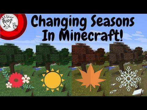 Changing Seasons In Minecraft! Minecraft Mods Episode 54
