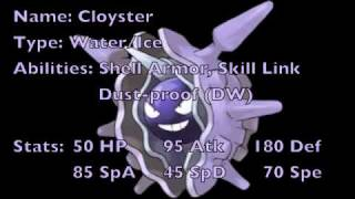 Cloyster  - (Pokémon) - Black and White Upgrade: Cloyster