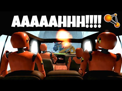 BeamNG Drive - Insane Cars bombardment!