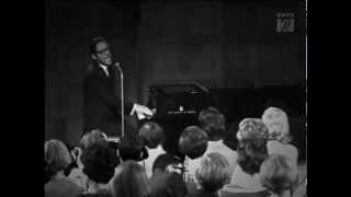 Tom Lehrer - I Wanna Go Back To Dixie - LIVE FILM from Copenhagen in 1967