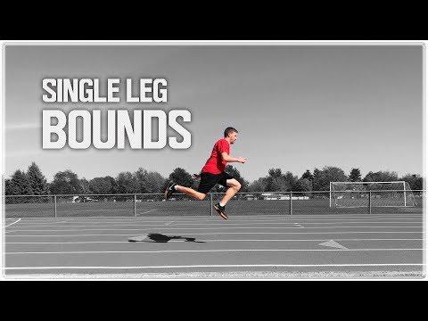 Single Leg Bounds for Speed Training - 3 Step Progression | One Leg Bounding