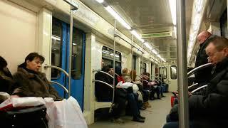 Арбатско-покровская линия ст. Смоленская-киевская на метро поезде оке