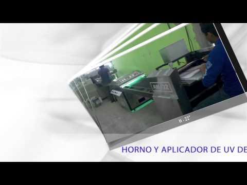 """HORNO UV Y APLICADOR 22"""" DE BARNIZ Y TINTAS UV."""