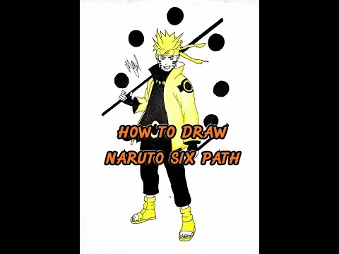 HOW TO DRAW NARUTO SIX PATH