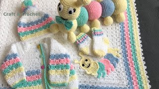 Easy Crochet Blanket Pattern/crochet Baby Blanket