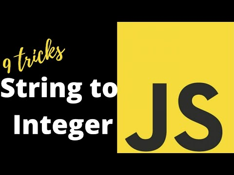 How to convert string to integer in Javascript