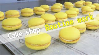 [Cake Shop Routine] Sunny days are perfect for making macarons