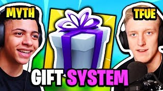 FaZe TFUE & MYTH REACT TO *NEW* GIFTING SYSTEM   Fortnite Daily Funny Moments Ep.137