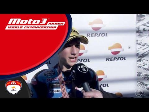 Sergio García winner race 2 Moto3™ Circuit Ricardo Tormo FIM CEV Repsol (Spanish)